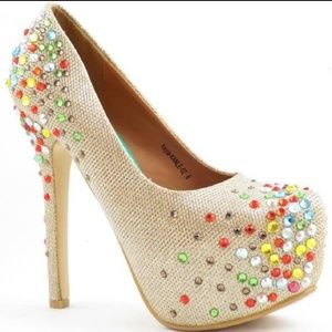 🆕️ Gold Bejeweled Heels